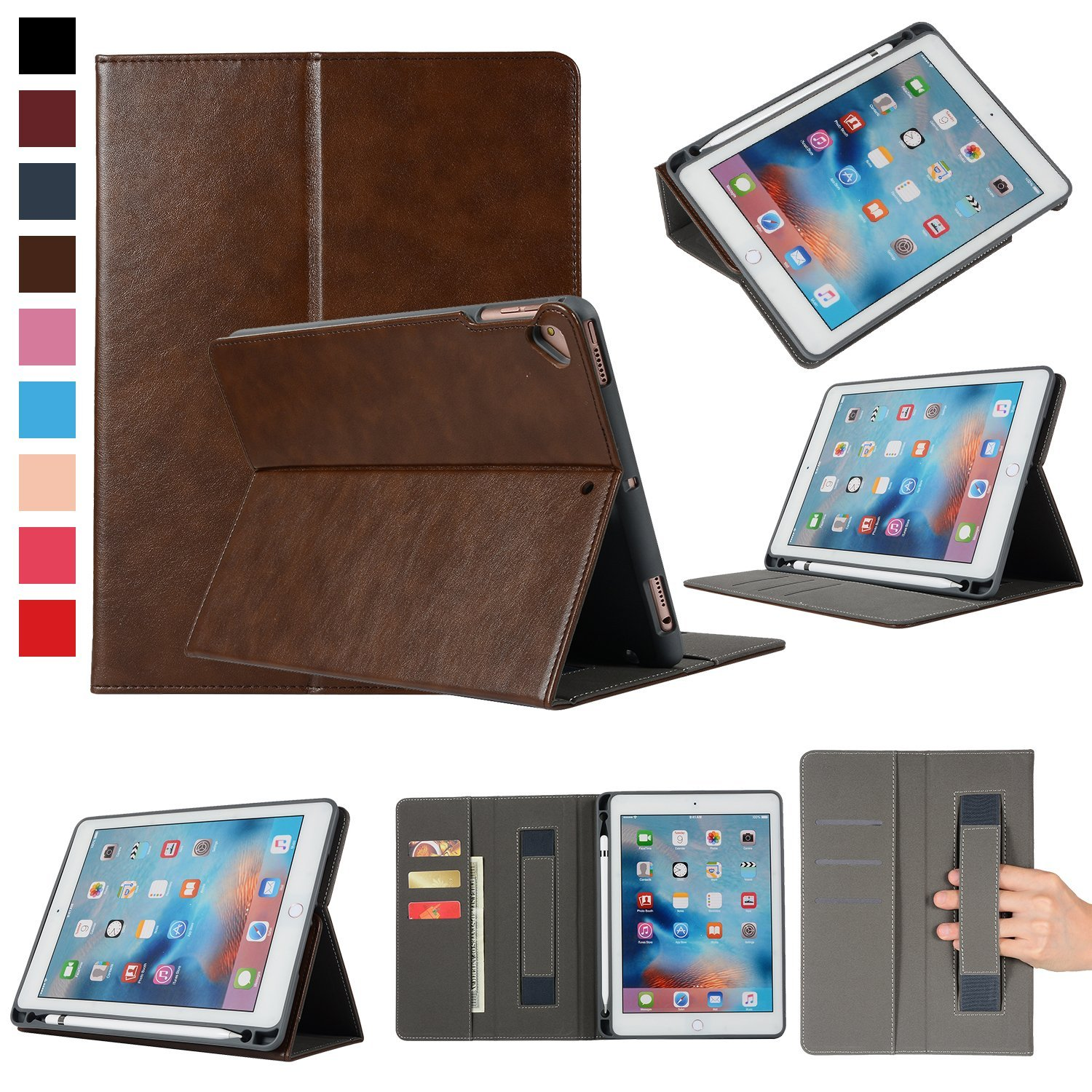 """Air 2 Case Cover with Apple Pencil Holder For iPad 9.7/"""" 2018 2017 iPad Air"""