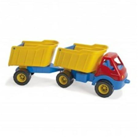 - American Educational DT-2282 Truck with Trailer Plastic Wheels Baby Toy