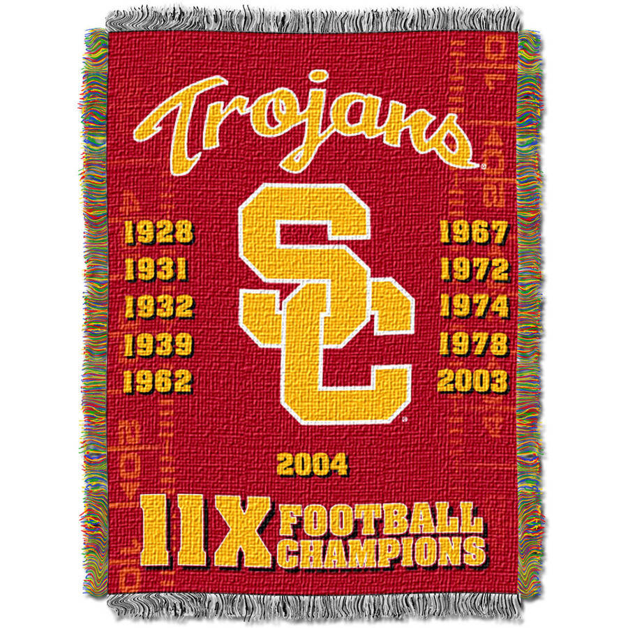 Officially Licensed NCAA Commemorative Woven Tapestry Throw Blanket Multi Color 48 x 60