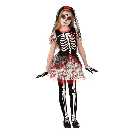 Day Of Dead Girls Costume