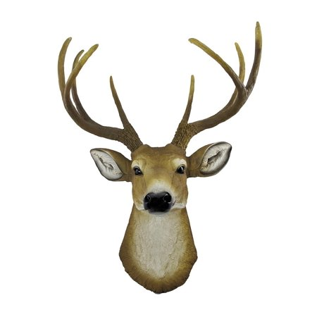 8 Point Buck Deer Head Bust Wall Hanging, The head measures 23 inches tall, 16 inches wide and 8 1/2 inches deep By Private Label
