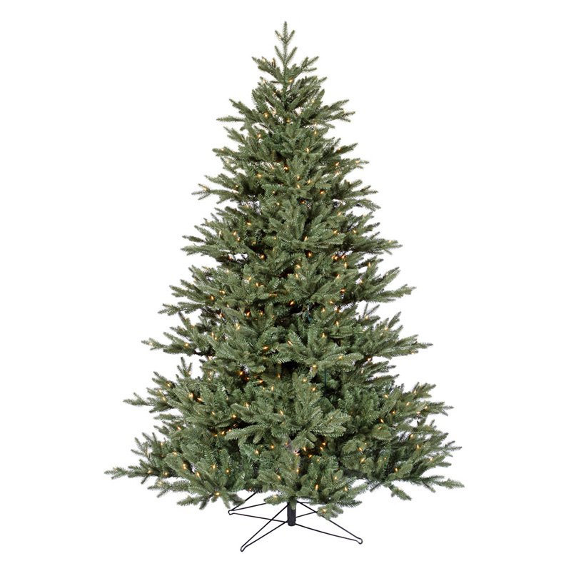 Blue Noble Fir Pre-lit Christmas Tree