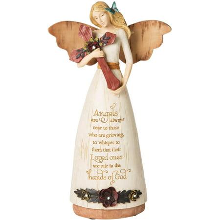 - Pavilion Gift Company-Sympathy Angel Holding Cross 9 Inch