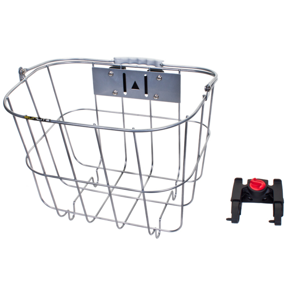Sunlite Basket Front Wire Q/R Steel 14X10X10 Silver