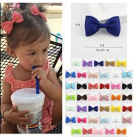 40Pcs Kids Girls Ribbon Hair Bow Clips with Hairpins Boutique Hair Barrettes Hair Accessories Handmade Toddlers Headwear