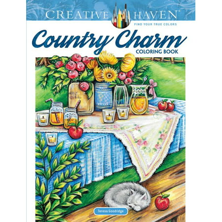 Creative Haven Country Charm Coloring Book - Coloring Pages Halloween