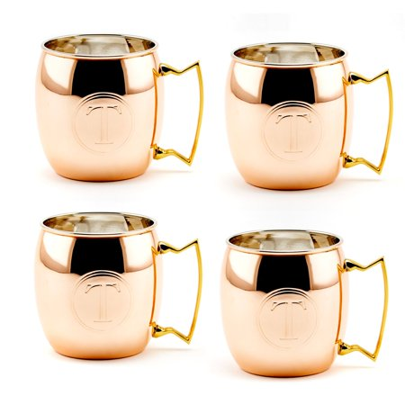 Old Dutch 16 oz. Monogrammed Moscow Mule Mugs - Set of 4