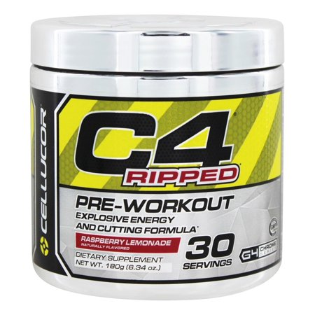 Cellucor C4 Ripped Pre-Workout Powder, Raspberry Lemonade, 30 Servings - Walmart.com