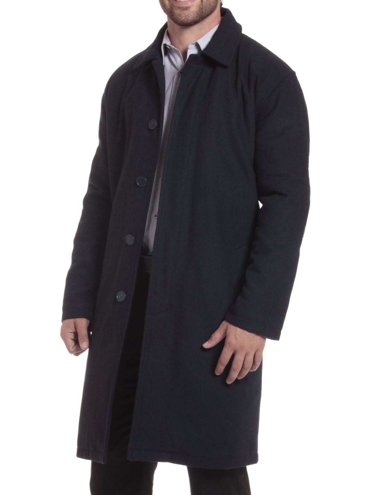 Alpine Swiss Men's Zach Knee Length Jacket Top Coat Trench Wool Blend Overcoat by alpine swiss