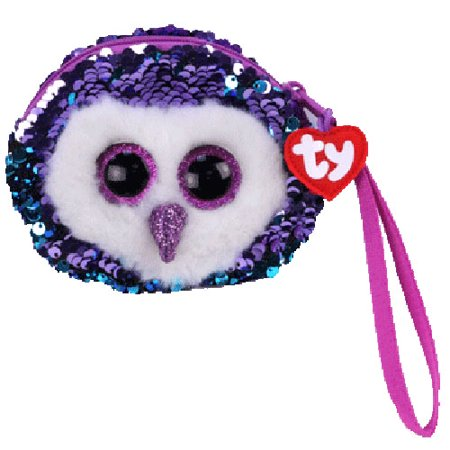 Moonlight Owl Ty Sequin Wristlet Coin Purse Beanie Boos Fashion Plush figure 5