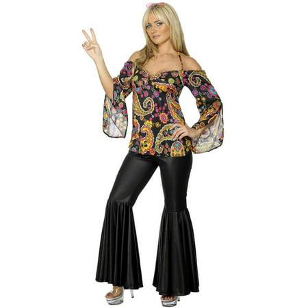 Black Paisley Hippie Adult Costume
