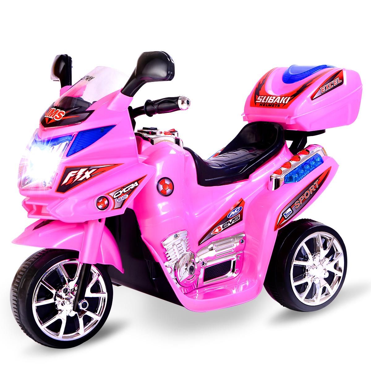 Costway 3 Wheel Kids Ride On Motorcycle 6V Battery Powered Electric Toy Power bicycle by Costway