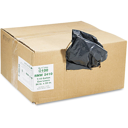 Earthsense Commercial Black Can Liners, 7-10 gal, 500 ct