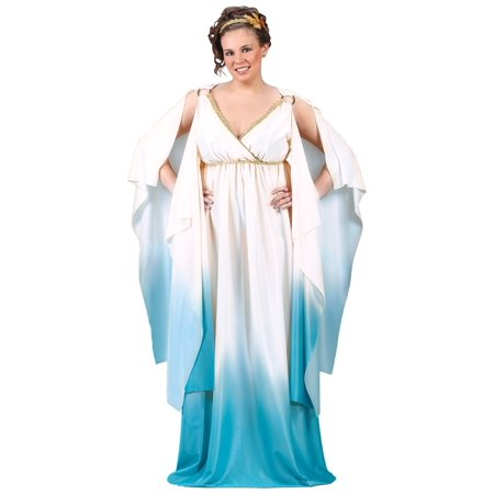 Hera Greek Goddess Costume (Greek Goddess Adult Plus Halloween Costume, Size: 16W-20W - One)