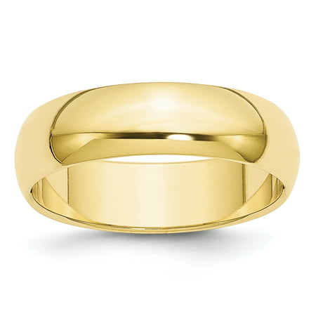 10K Yellow Gold 6mm Half Round Band Size 12.5 - image 3 of 3