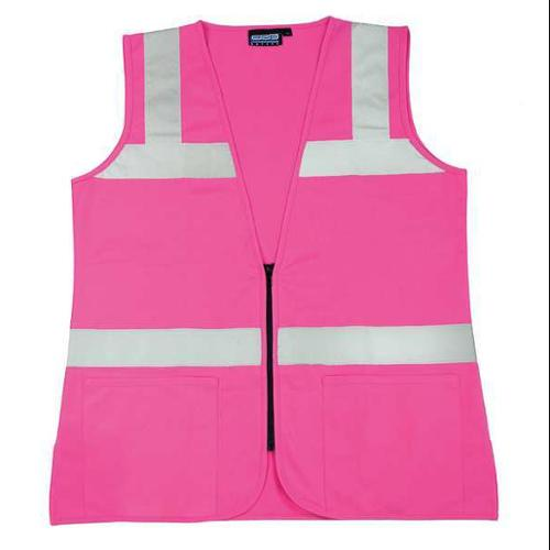 ERB SAFETY XL High Visibility Vest, Pink, S721  61912
