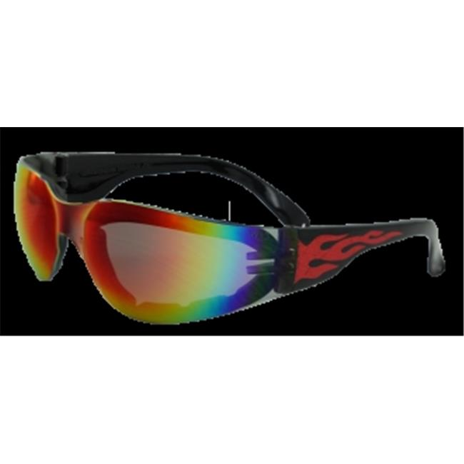 Rider Flame  Glasses With G-Tech Red Lens