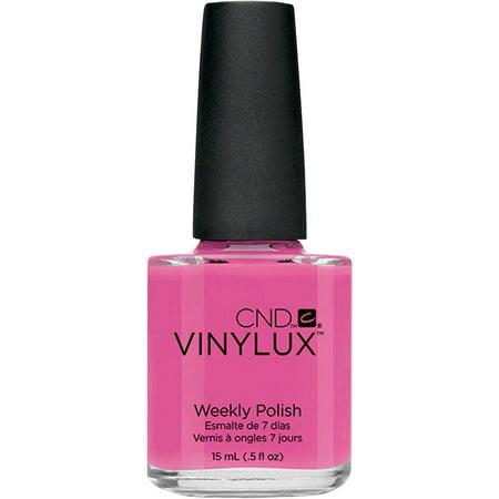 CND Vinylux Weekly Nail Polish, Hot Pop Pink #121, .5 fl oz - Pink Nail Polish