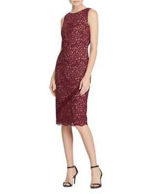Lace Sleeveless Knee-Length Dress