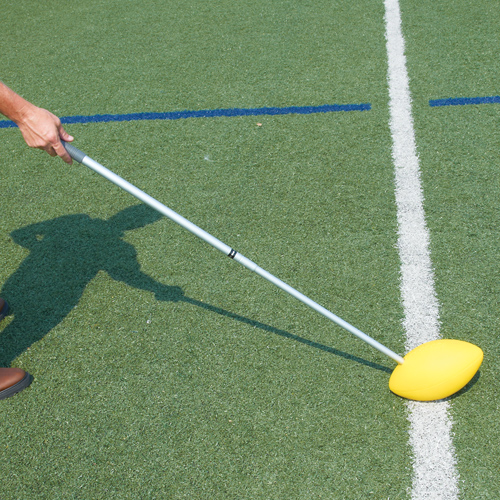 Pro Down Snapper Stick with Aluminum Pole and Foam Rubber Football