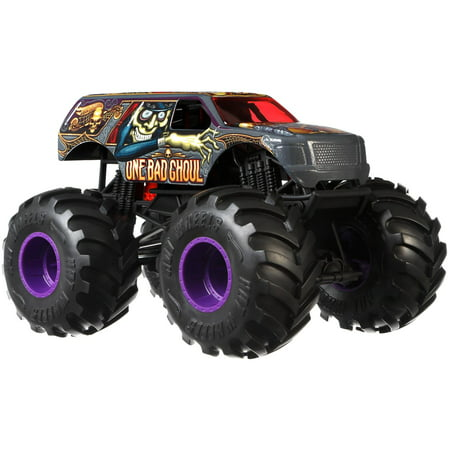 - Hot Wheels Monster Trucks 1:24 Scale One Bad Ghoul Vehicle