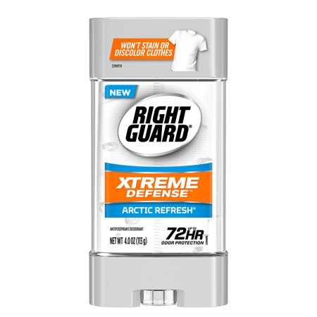 (Right Guard Xtreme Defense 5 Antiperspirant Deodorant Gel, Arctic Refresh, 4 Ounce)