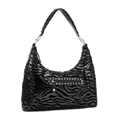 - Rock Rebel Black Zebra Hobo Purse