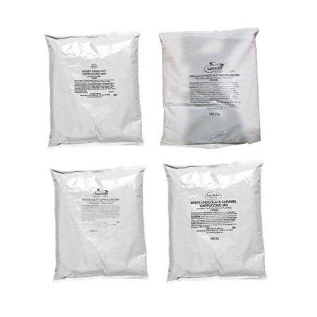 Honey Hazelnut, Chocolate Hazelnut, Mocha Alert, White Chocolate Caramel Cappuccino (4 bags)