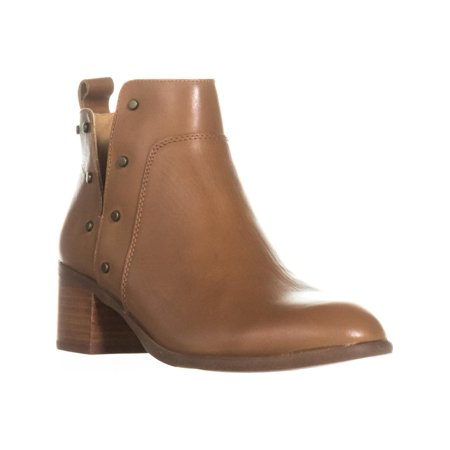 Womens Franco Sarto Richland Studded Ankle Boots, Whiskey