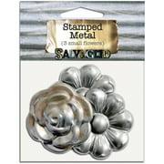 Salvaged Tin Metal Shapes 3/Pkg-Flowers