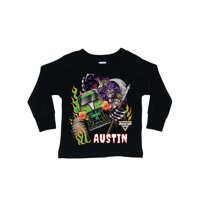 07040934 Product Image Personalized Monster Jam Grave Digger Toddler Long Sleeve Tee