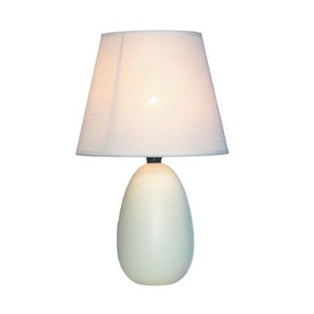 Small Oval Ceramic Table Lamp - Off White - image 1 of 1