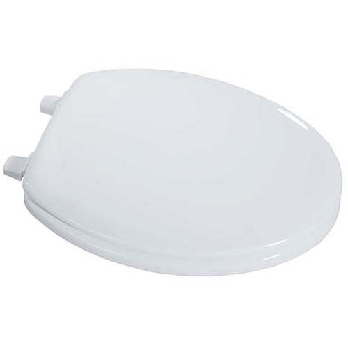Exquisite Elongated Wood Toilet Seat, White