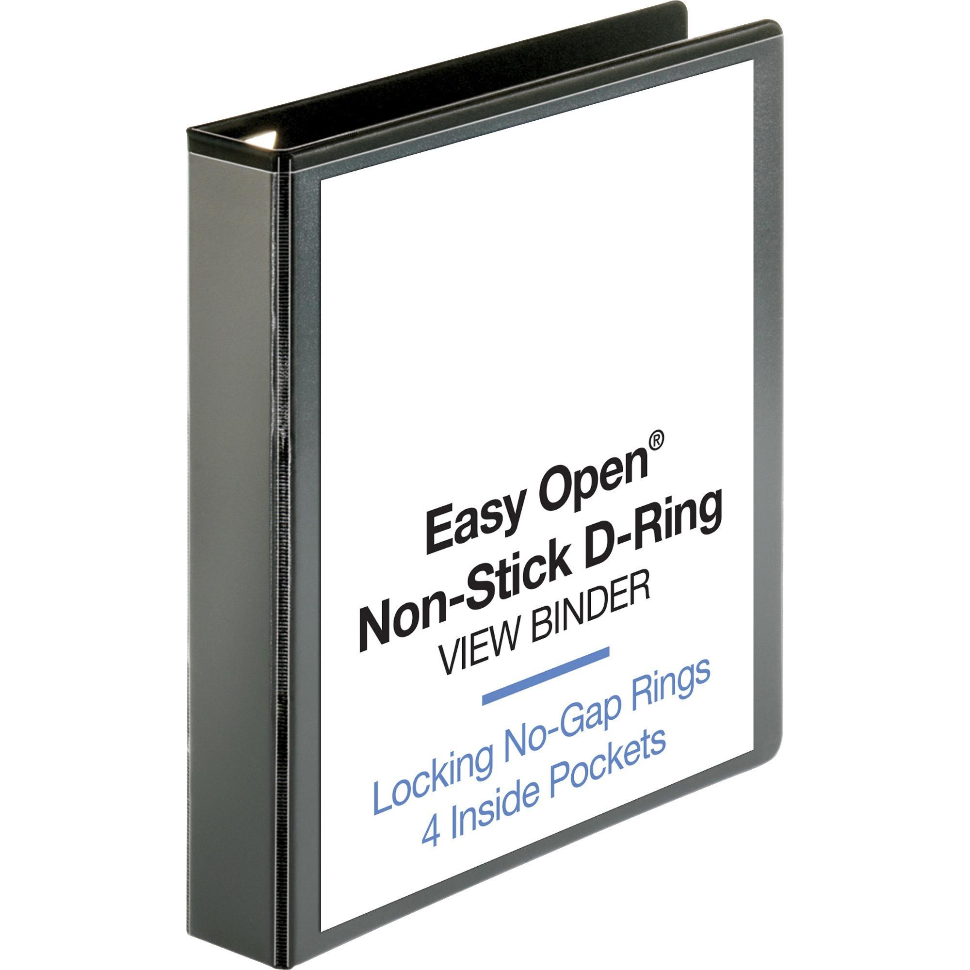 Business Source, BSN26958, Locking D-Ring View Binder, 1 Each, Black
