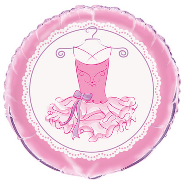 "Pink Ballerina Foil 18"" Balloon Birthday Party Dance Recital"