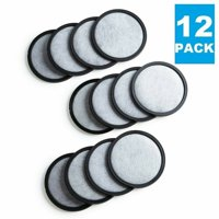 (12) Premium Replacement Charcoal Water Filter Disks for All Mr. Coffee Machines, Replaces Filter Disc, 12 Pack
