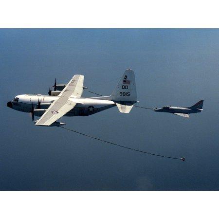 LAMINATED POSTER of Marine Refueler-Transport Squadron 152 (VMGR-152) refuels a Douglas A-4E Skyhawk of Fleet Compos Poster Print 24 x 36