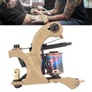 FAGINEY Coils Tattoo Machine,Professional Tattoo Pen Machine 10 Wrap Coils Powerful Gold Liner Tattoo Machine ,Tattoo Machine
