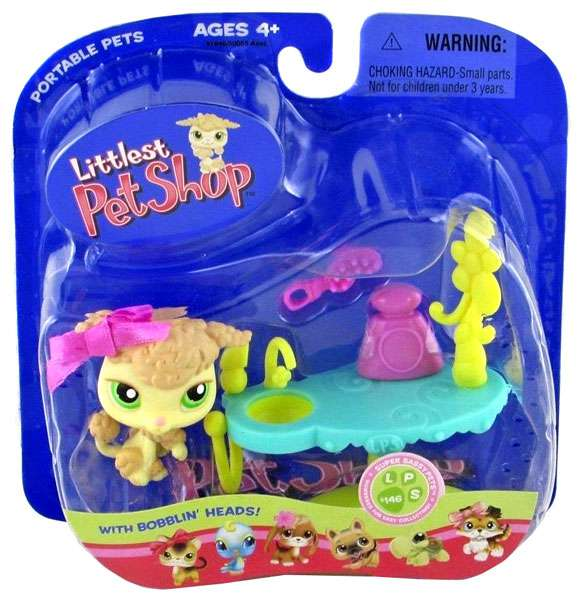 Littlest Pet Shop Portable Pets Poodle Figure [Grooming Table]
