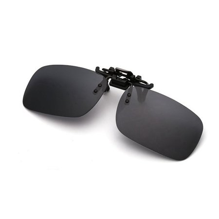 0e41ff3ea5d Clip-on Polarized Sunglasses Flip-up Lens Driving Glasses Color Gray Size S  - Walmart.com