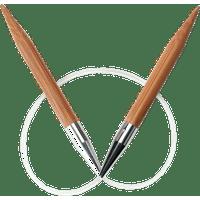 ChiaoGoo Bamboo Circular Knitting Needles: 16 Inch (40 cm) Cable: Size  US-11 (8 mm)