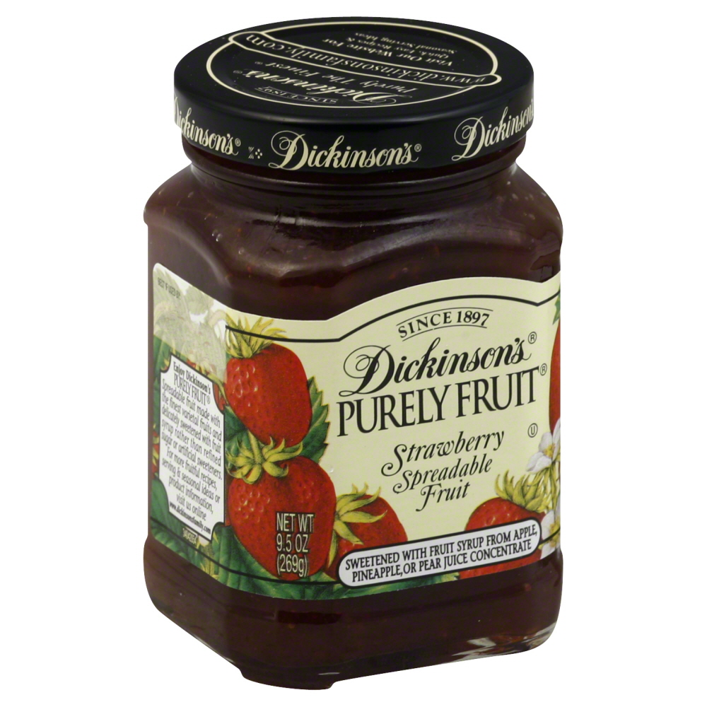Dickinsons Spreadable Fruit, Strawberry, 9.5 OZ (Pack of 6)