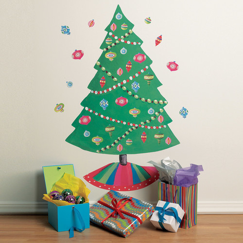 "Wallies Peel & Stick Christmas Tree, 2 sheets 19"" x 25"""