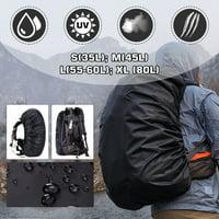 EEEKit Waterproof Backpack Rain Cover(35-80L), Ultralight Compact Portable Rucksack Bag Rainproof Cover with Antislip Elastic Edge & Strengthened Layer for Hiking, Camping, Biking, Outdoors, Traveling