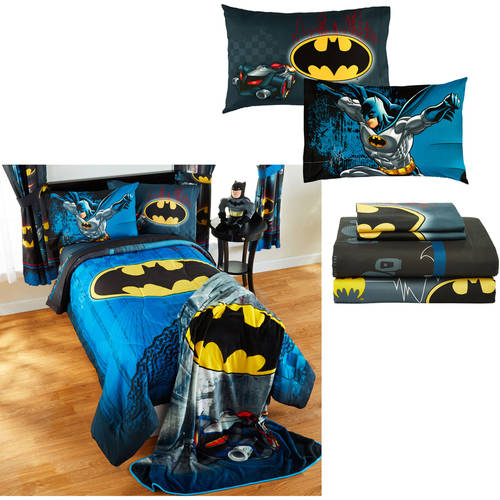 Your Choice Of Avengers, Minions, Batman, and Jurassic World Comforter with Sheet Set Included