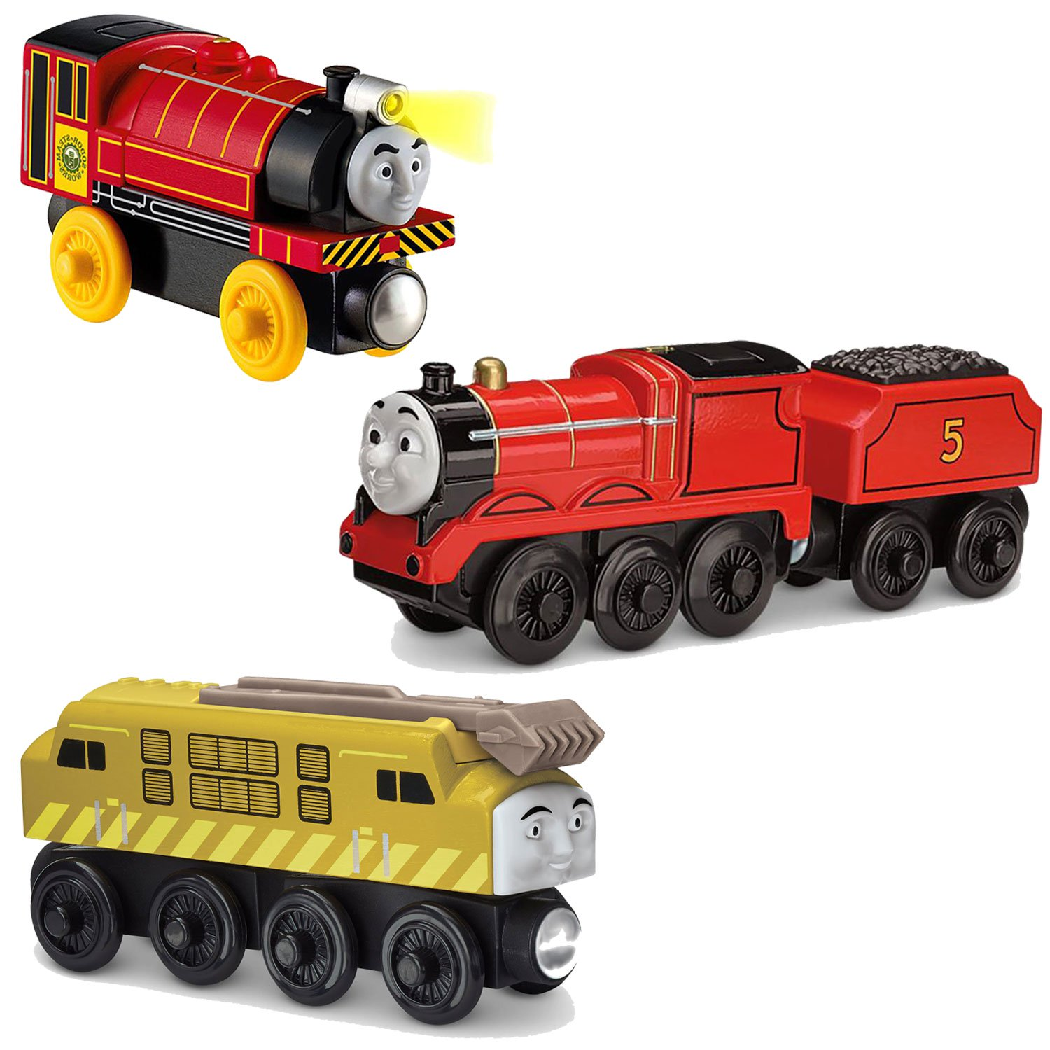 Fisher Price Thomas and Friends James,Victor + Diesel 10 Toy Train Engine Set by Fisher-Price