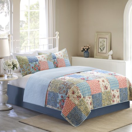 English Floral Quilt (Mainstays Vintage Floral Patchwork Quilt Collection )
