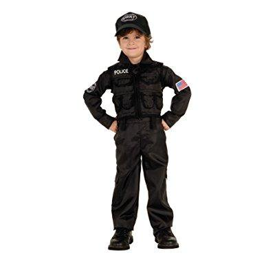 uhc baby boy's uniform policeman swat toddler fancy dress halloween costume, 2t-4t