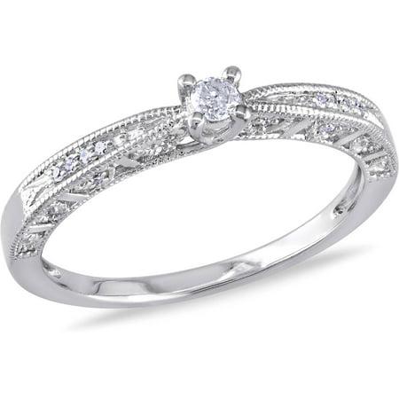 Miabella 1/10 Carat T.W. Diamond Sterling Silver ...