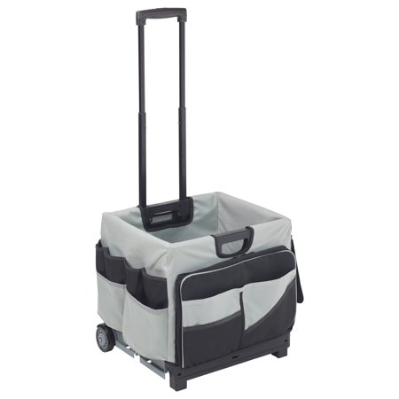 ECR4Kids Universal Rolling Cart and Organizer Bag - Black ()